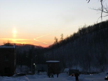 Небесный лыжник