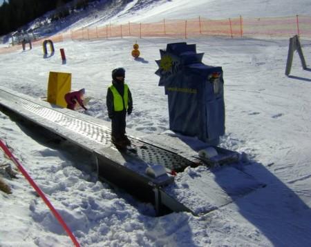 Виды горнолыжных подъёмников. Ленточный подъёмник