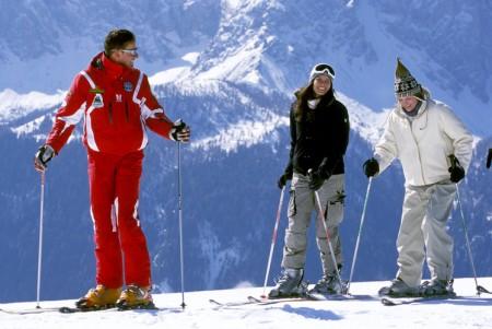 Правильная стойка горнолыжника